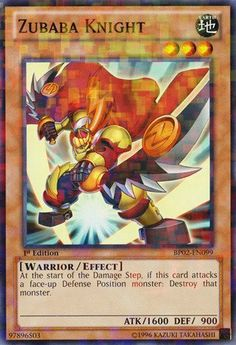 Yu-Gi-Oh! - Zubaba Knight (BP02-EN099) - Battle Pack 2: War of the Giants - 1st Edition - Mosaic Rare *** Be sure to check out this awesome product.