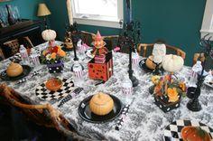 halloween tablescape #halloween