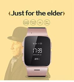 KoTeel GPS Tracker Watch for Elderly Personal Google Map Call Button Geofence Alarm GSM GPRS Locator (Rose gold) -- You can find out more details at the link of the image.