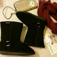 NWOT Bearpaw Snow Boots NWOT Bearpaw Adele Boots. Black, size 7. Original box included. Very warm and cozy:) Perfect with leggings and a long cardigan! Bundle and save 15% Bearpaw  Shoes Winter & Rain Boots