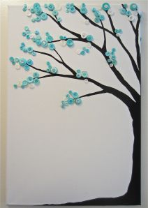 Turquoise button tree.