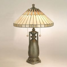 Dale Tiffany Lamps Augusta  Table Lamp in Antique Bronze - TT60257