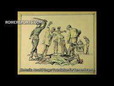 Muestran a Francisco obras de arte hechas por un católico que sobrevivió al Holocausto www.arcasagradoscorazones.com