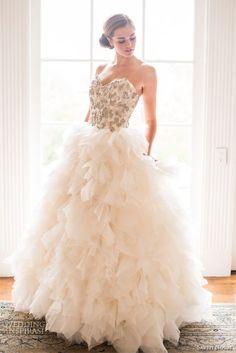 Ruffled wedding dresses 2014