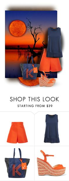 """""""Blue & Orange"""" by sabine-713 ❤ liked on Polyvore featuring Delpozo, BOSS Orange, Kenzo and Schutz"""
