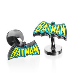 Cufflinks Inc - Comics Collection Vintage Blue & Yellow Batman Cufflinks