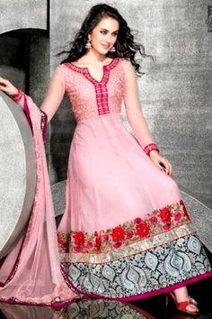 Anarkali Kameez; Light Pink dress