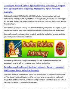 Astrologer Radha Krishna: Spiritual healing in Sydney, Liverpool, Famous Spiritual Healer in Sydney