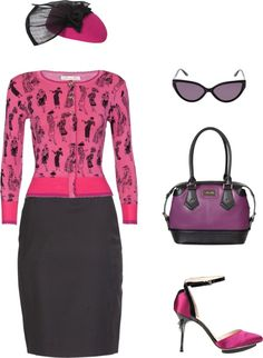 """""""Pretty in Pink this Mothers Day"""" by alannahhill on Polyvore"""