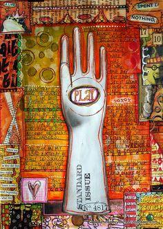 Play, art journaling by Kathryn wheel