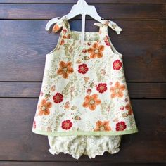 Try this easy to sew dress with matching bloomers. No zippers and no buttons.  And there's a bonus: it's reversible! Two looks in one!