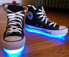 These aren't just any regular light up shoes, these custom made kicks are hand made to order from the designer responsible for the lighting in the TRON movie and for Daft Punk. With each step you take, these shoes will light up any room and turn heads. $749