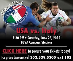RUGBY RALLY IN CONJUNCTION WITH THE USA VS ITALY GAME ON JUNE 23 – HOUSTON, TX