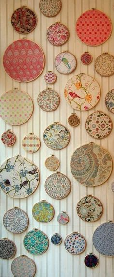 Liberty wall, so lovely in a nursery or child's room. https://www.facebook.com/estellashop