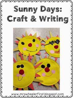 Summer Freebies:  Super Cute Sun Craft!