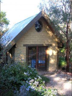 My studio Backyard Studio, Garden Studio, Brick Shed, Brick House Designs, Brick Studio, New Mexico Homes, Studio Shed, Stone Cottages, Eco Homes