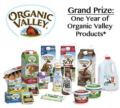 I just entered to win a year of products from Organic Valley! Enter here:  http://virl.io/hPUmCeqT 10/15