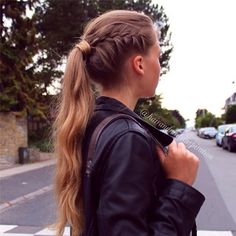 French braid into ponytail - back to school hairstyle idea