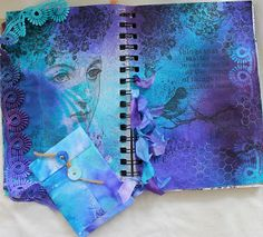 Scottie Crafts Blog: Dyan Reaveleys Dylusion Sprays by Wendy. I ABSOLUTELY LOVE THIS!!!