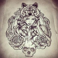 I'd love this as a wolf girl tat