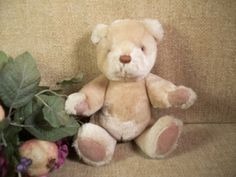 GUND BEAR Caramel Brown Plush Stuffed Animal Teddy Bear VIntage1983  Collectible #gund #any