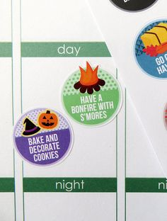 One 6 x 8 sheet of fall bucket list planner stickers cut and ready for use in your Erin Condren life planner, Filofax, Plum Paper, etc! An