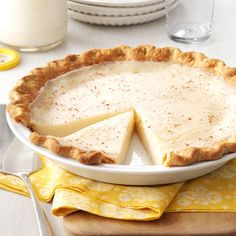 Sugar Cream Pie Recipe
