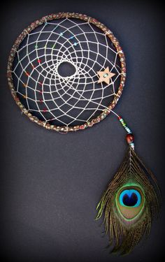 dream catcher - rainbow dream catcher - polka dot dream catcher - peacock feather dream catcher - brown dream catcher