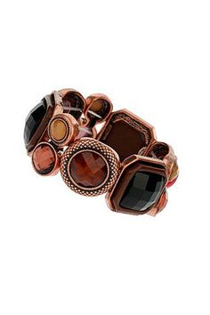 Multi Facet Stone Bracelet , a lovely bit of bling Stretch Bracelets, Bangle Bracelets, Bangles, Sapphire Bracelet, Colorful Bracelets, Stone Bracelet, Women Jewelry, Bling, Clothes For Women