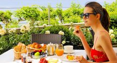 French breakfast on the terrace Terrace, Restaurant, French, Breakfast, Breakfast Cafe, Sidewalk Cafe, Patio, French People, Diner Restaurant