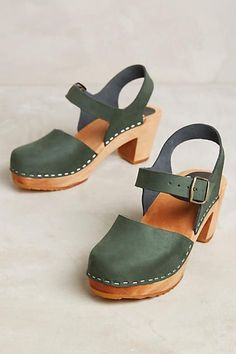 Funkis Camilla Ankle Strap Clogs - anthropologie.com