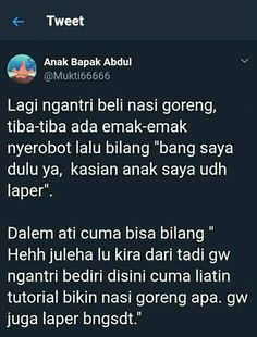 Dasar emak²!! Twitter Quotes, Tweet Quotes, Mood Quotes, Life Quotes, Twitter Twitter, Funny Quotes Tumblr, Jokes Quotes, Sarcastic Quotes, Funny Tweets