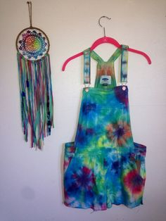 Colorful Women's Unique Tie-Dye Small/Med Overalls-1 tree is planted with every purchase overalls overall tie-dye overalls tie dye overalls cute overalls womens overalls colorful overalls bright overalls festival overalls summer overalls hippie overalls hippy overalls boho overalls 48.00 USD #goriani