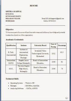 entry level resume samples - Entry Level Resume Templates