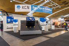 Messestand KCN @ NUFAM in Karlsruhe. Ansicht: unser Antirutschboden für LKW-Auflieger