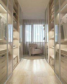 14 Walk In Closet Designs For Luxury Homes Wardrobe Room, Wardrobe Design Bedroom, Luxury Bedroom Design, Home Room Design, Closet Bedroom, Master Bedroom, Hallway Closet, Master Closet, Cozy Bedroom