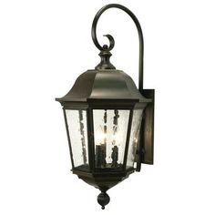 2nd Ave Design Tiamo 3 Light Outdoor Wall Lantern Finish: Antique Rust, Shade Type: Real Mica