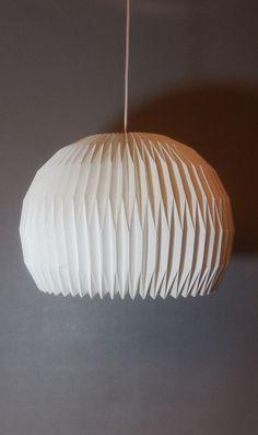 Original c1960 Le Klint Mid Century Modern Hanging Lamp Pleated Chandelier #LeKlint