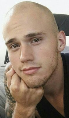 He would look even hotter with a beard and hair tied into a top knot or man bun. Shaved Head Styles, Shaved Heads, Bald Head Man, Guys With Nose Piercings, Bald Men Style, Bald With Beard, Bald Guy, Skin Head, Going Bald