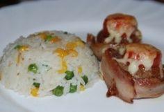 Mozzarella, Mashed Potatoes, Bacon, Chicken, Meat, Ethnic Recipes, Food, Whipped Potatoes, Smash Potatoes