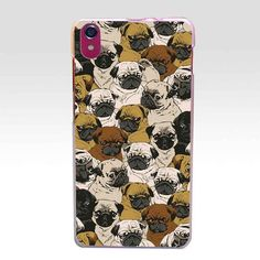 Free Pug Product - 340GH the hot Cute Pug Dog Hard Transparent Case Cover for Lenovo S850 S850T S60 S90 A536 A328 A328T A1000 vibe p1