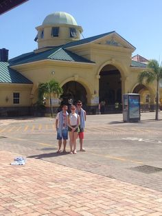 Kids and exchange student from China at port in St Kitts