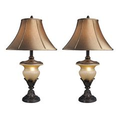 """Found it at Wayfair - Danielle 34"""" H Table Lamp with Bell Shade"""