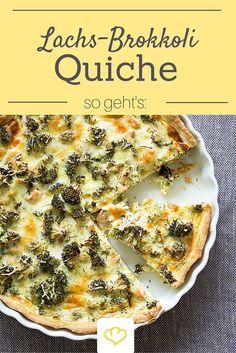 Eins unserer liebsten Quiche-Rezepte: Quiche mit Lachs und Brokkoli