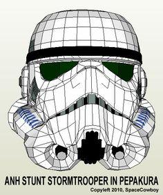 SpaceCowboy - Symmetrical ANH Trooper 3D model for use in Pepakura Resources, Tools, and Materials for your Pepakura at www.PepakuraPros.com.