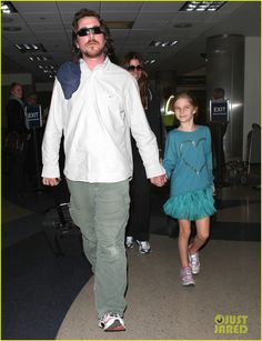 Christian Bale: Post-Birthday Family Flight! Jan 31