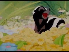 """""""You can call me flower if you want to. I don't mind."""" -Skunk on Bambi"""