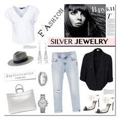 """Silver!"" by tatajrj ❤ liked on Polyvore featuring Jil Sander, Zara, Jason Wu, Monki, Object, MICHAEL Michael Kors, Allurez, Whistles, New Look and Vanity Fair"