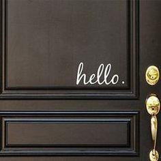 Hello Vinyl Door Decal - Hello Front Door Decals, Hello Home Office Decor, Custom Vinyl Decal, Hello Vinyl Hello Decal,...
