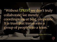 Ever wonder why you can't get people to work together? #leadership #trust #teamwork
